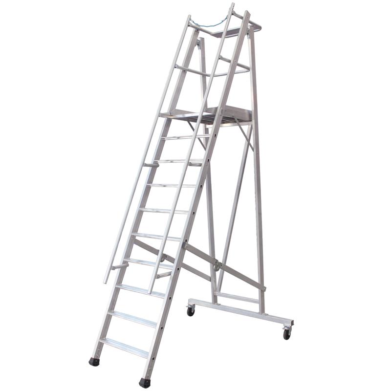轻型铝合金可移动平台梯
